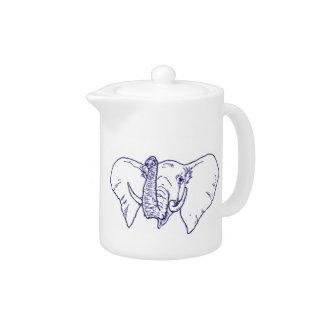 Elephant Face Teapot