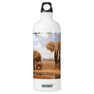 Elephant Family Aluminum Water Bottle
