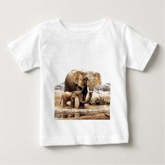 Elephant Family Baby T-Shirt
