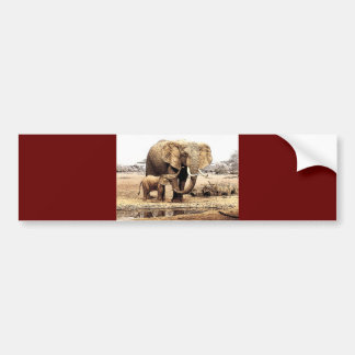 Elephant Family Bumper Sticker