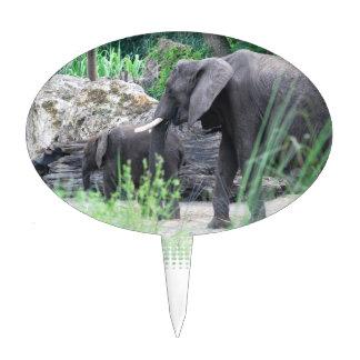 Elephant Family Cake Topper