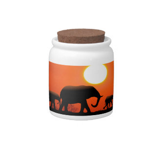 Elephant Family Candy Jars