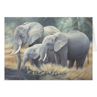 """Elephant Family"" Card"