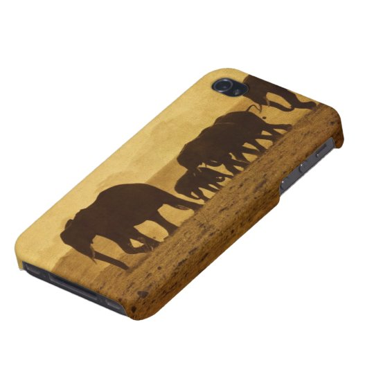 Elephant Family iPhone 4 Cover