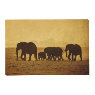 Elephant Family Placemat