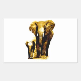 Elephant Family Rectangular Sticker