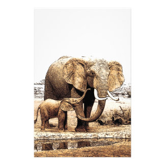 Elephant Family Stationery Paper