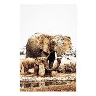 Elephant Family Stationery Paper