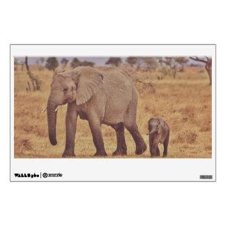 Elephant family room graphics
