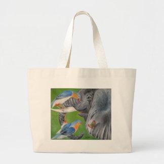 elephant fantasy1 jumbo tote bag