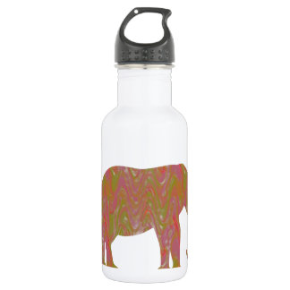 ELEPHANT: Fantasy Artistic Color Shade: lowprice 18oz Water Bottle