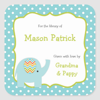 Elephant First Library book plate stickers