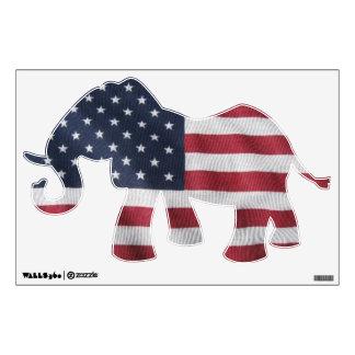 Elephant flag window sticker