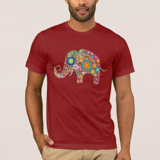 Elephant Floral Art T-Shirt