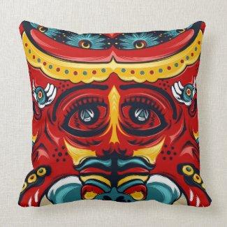 Elephant Flowers MoJo Pillow