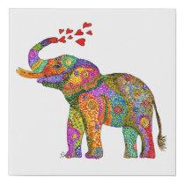 "Elephant Foam Core Canvas-Easy Peel & Stick-10X10"" Faux Canvas Print"