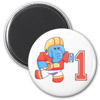 Elephant Football 1st Birthday Magnet
