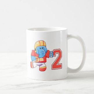 Elephant Football 2nd Birthday Coffee Mugs
