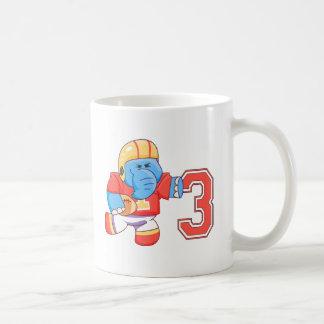 Elephant Football 3rd Birthday Mugs