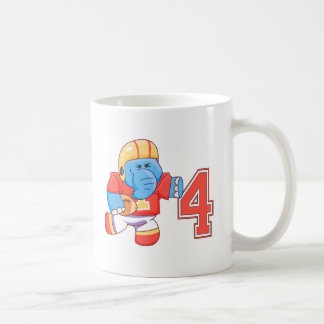 Elephant Football 4th Birthday Coffee Mug