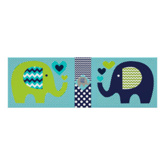 Elephant Friends Nursery Poster