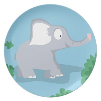 Elephant from my world animals serie dinner plate
