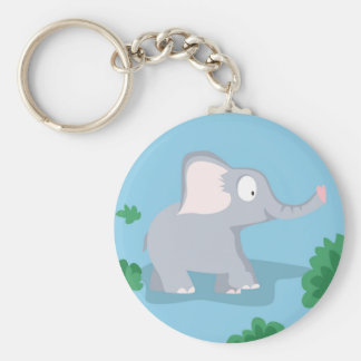 Elephant from my world animals serie keychain