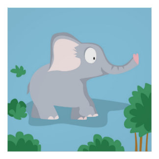 Elephant  from my world animals serie poster
