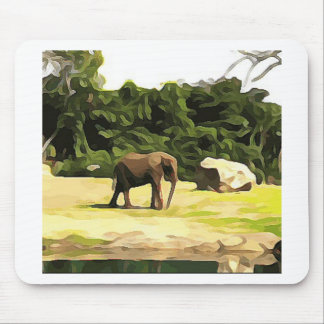 Elephant from Safari Mouse Pad
