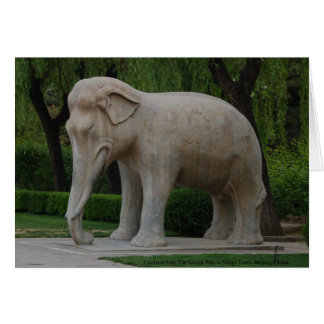 Elephant from The Sacred Way in Mings Tomb Card