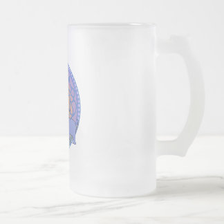 Elephant Frosted Glass Beer Mug