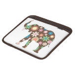 Elephant funky retro floral flowers cute colorful sleeve for iPads