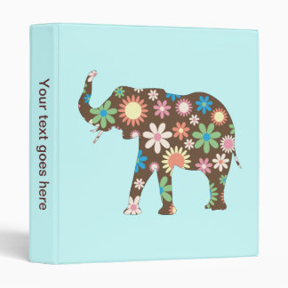 Elephant funky retro floral photo album, binder