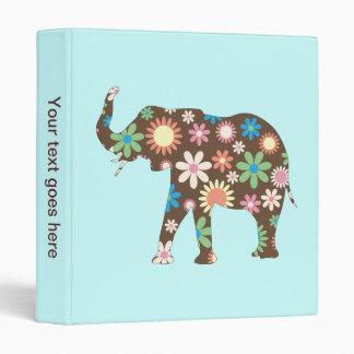 Elephant funky retro floral photo album binder