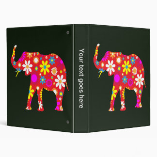Elephant funky retro floral photo album, binder