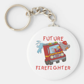 Elephant Future Firefighter Tshirts and Gifts Basic Round Button Keychain