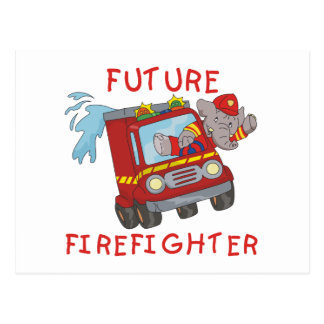 Elephant Future Firefighter Tshirts and Gifts Postcard