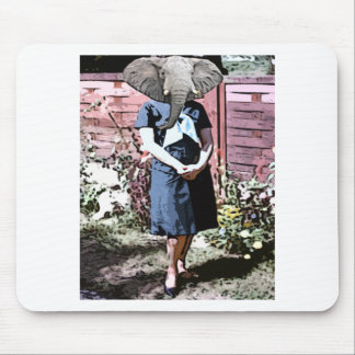 Elephant garden mouse pad