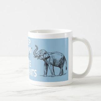 Elephant Gift Keep Calm and Love Elephants Print Mug