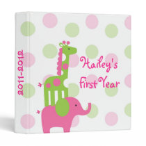 Elephant Giraffe Baby Photo Album Scrapbook Binder