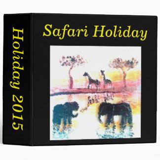 Elephant, Giraffe Safari Sunset Art Binder