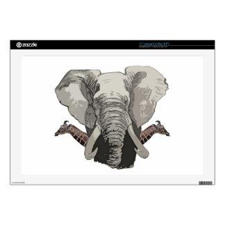 "Elephant Giraffes Decals For 17"" Laptops"