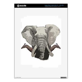 Elephant Giraffes iPad 3 Decal