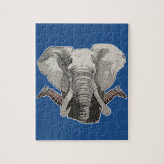 Elephant Giraffes Jigsaw Puzzle