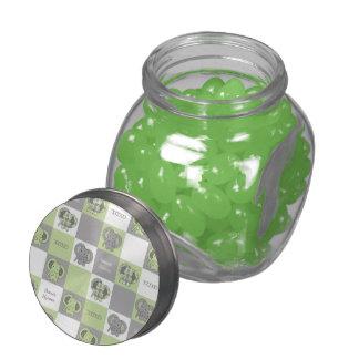 Elephant Glass Candy Jar