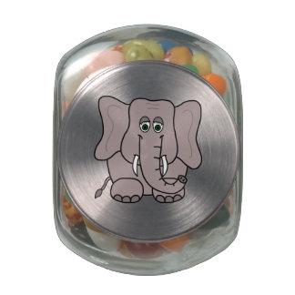 Elephant Glass Jars