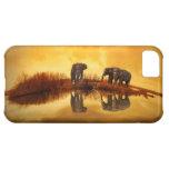 Elephant golden sunset reflection iphone 5c case