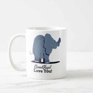 Elephant Goodbye Coffee Mug