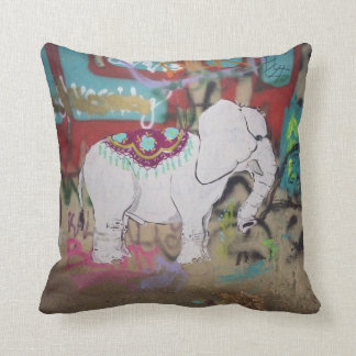 Elephant graffiti Pillow