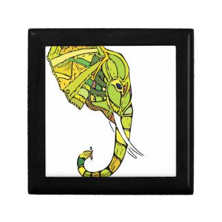 Elephant graphic design jewelry box